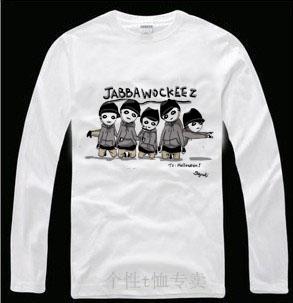 Roddy doughface jabbawockeez hip-hop camisa básica plus size roupas de manga comprida T-shirt(China (Mainland))