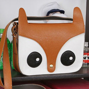 2013 small fox head single shoulder bag handbags another hello Kitty handbag bags women famous brands Louis anime pu leather