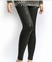 woman new fashion thick black stretchy ninth leggings free shipping A420B-816