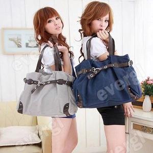 New Korean Style Fashion Cute Girl Casual Canvas Bag Shopper Boat Tote Bag SLB12(China (Mainland))