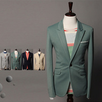 2013 Hot Selling Basic One Button Casual Suit False Trade Descriptions For Connecting Jacket Male Free Shipping