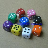 Free Shipping 1.6 16 Multicolour Dice Digital Bosons Mahjong Dice Boulimia Table Props