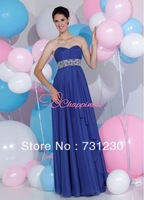 Free Shipping Elegant Floor Length Chiffon Graduation Dresses