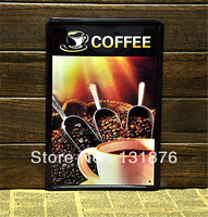 20*30cm COFFEE Poster Metal Tin Sign Coca beans Coffee mate Beverage Iron Painting Wall Decor