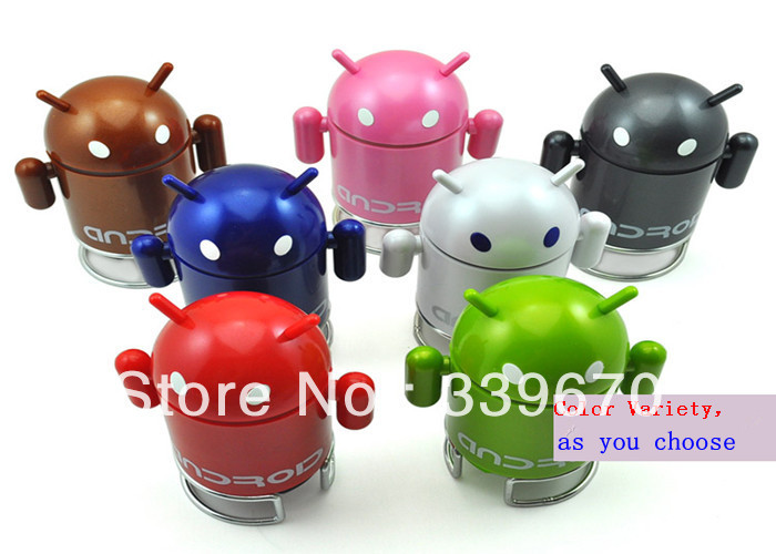 Android Speaker Robot Mini Speaker With usb/TF card slot FM radio for Cell Phone Tablet PC MID.300pcs Free shipping DHL.Dood(China (Mainland))