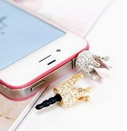 M002 Free Shipping!South Korean mobile phone silver crown Apple mobile phone dustproof stopper crown section B3.6(China (Mainland))