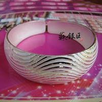 S999 999 fine silver women's pure silver bracelet fashion silver jewelry hydrowave gift