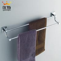 Bathroom accessories hardware copper towel rack towel rail towel bar double-pole