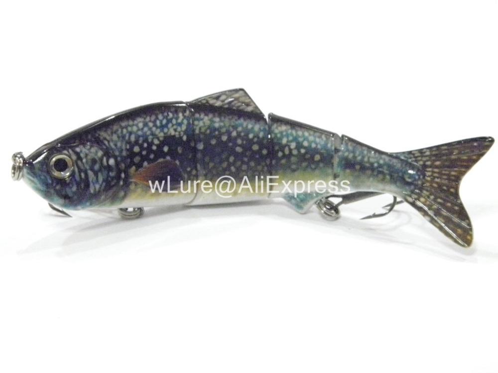 Fishing Lure 4 Segment Swimbait Crankbait Hard Bait Fresh Water Shallow Water Bass Walleye Crappie HS4 Fishing Tackle HS4X398(China (Mainland))