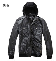 Han edition men's hooded jacket coat of cultivate one's morality men's clothing