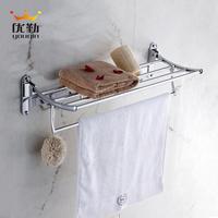 Bathroom towel rack stainless steel towel rack bathroom accessories hardware accessories 60cm with 4 hooks