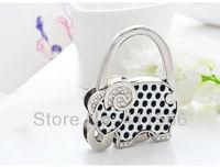 1 PC Lovely  Elephant Design Handbag Folding Bag Purse Hook Hanger Holder Wedding For Friend Gifts Free shipping New Arrived