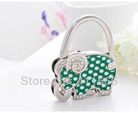 Free shipping Lovely Elephant Design Handbag 1 PC Folding Bag Purse Hook Hanger Holder Wedding For Friend Gifts New Arrived