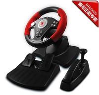 Dillon pu808 computer game steering wheel belt vibration game disc