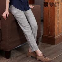 Original design vintage fluid stripe skinny pants trousers