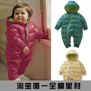 2014 Retail fashion Romper Baby for winter cotton padded one piece children kids jumpsuit 4m-1yrs