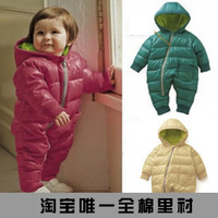Free shipping 2013 Retail fashion Baby Romper for winter cotton padded one piece children kids jumpsuit 4m-1yrs