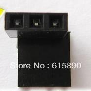FREE SHIPPING 200pcs/lot 2.54mm 1 X 3 Pin Gold-plated Single Row Straight Female Pin Header ROHS