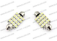 Free Hongkong post! Festoon 16 SMD 3528/1210 car led light  for all cars  31mm/36mm/39mm/41mm