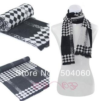 2013 winter fall hot sale fashion new brand gentlemen classic diamond knitting business casual long modal cotton tassels shawls