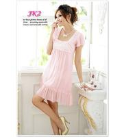 1155 2013 New Fashion Women Lady Chiffon Dress Summer Short Sleeve Dress Free Shipping
