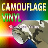Camouflage Car Color Change Vinyl  Decal Air Bubble 1.52*30M