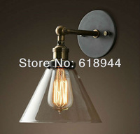 Wholesale Vintage Antique Glass Wall Lamps with Edison Light Bulb for bathroom, indoor, outdoor 110V-240V