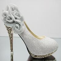Free shipping 2013 women's spring single shoes  high-heeled shoes bridal shoes platform shoes wedding cheongsam pumps