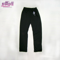 Latin dance pants bottoms black child male female child ywk801 straight pants