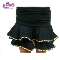 Child female child Latin dance skirt bottoms dance skirt black short skirt yw328 leopard print