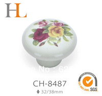 beautiful ceramic kitchen cabinet knobs with flower