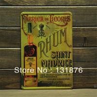 20*30cm RHUM SAINT MAURICE RABRICA DE LICORES Bar Poster Wine Poster Metal Tin Sign Wall Painting Home Decor