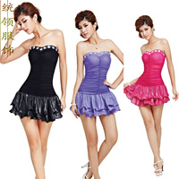 Sexy slim hip loading the miss ktv fashion tube top one-piece dress ds costume 1259