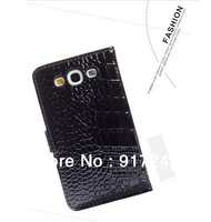 Free shipping! Genuine Leather Flip Case for Samsung Galaxy S3 i9300, Black, white, pink, red, rose red, brown
