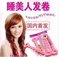 Min. order $9(mix order) Sleeping Beauty Curls Sponge Hair Curlers Sponge Hair Roller 6 Pieces One Bag