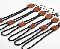 Free shipping  universal Luxury Leather Wristband camera wrist strap Bundle For DSLR Camera