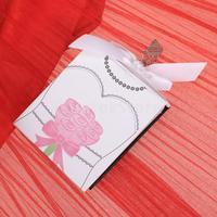 Free Shipping Bride Groom Mini Photo Album Wedding Favor