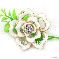 Free Shipping 6PCS/Lot wholesale Beautiful Ceramics Crystal Wedding Breastpin Dance Flower Brooch Pins P857-016