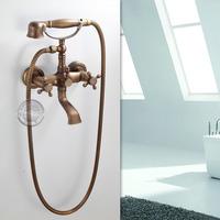 Wall mounted Bathroom Clawfoot bathtub faucet & hand shower.Basin sink Mixer Tap.three handle tub faucet & hand shower GY-855
