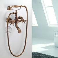 Wall mounted Bathroom Clawfoot bathtub faucet & hand shower.Basin sink Mixer Tap.three handle tub faucet & hand shower GY-855