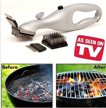 free shipping,BBQ Stainless steel brush Clean Grill with power of steam(China (Mainland))