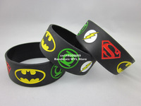 New Justice League, Superman, Batman, Green Lantern, The flash wristband, Silicon bracelet, 50pcs/lot, free shipping