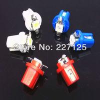 Free Shipping 10x T5 LED Lamp B8.5D Car Gauge 5050 1 SMD Speedo Dashboard Dash Side Light Bulb White