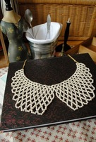 Min.order is $10 (mix order) New style fashion gorgeous hand knitting sweet pearl collar necklace! Free shipping N1131