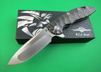 FREE SHIPPING 60-62HRC TITANIUM ALLOY HANDLE OEM Wild Boar XM-18 HIGH LEVEL FOLDING KNIFE DREAM1543