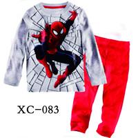 Kids Spiderman Pajamas Clothing Set Baby Boys T-Shirt Blouse Pant Pijama Clothes Set Children's Brand Pyjama Product Sleepwear