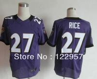 Free shipping Embroidery logos,Men's elite American Football Jerseys,Wholesale Original quality #27 Rice  Ray Size M-XXXL