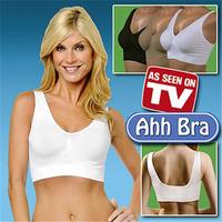 Drop Shipping 3pcs/lot Ahh Bra As Seen On TV Seamless Sport Bras Body Shapers Women Underwear OPP Bag