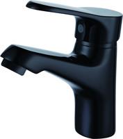 Solid Brass Color Faucet Single Hole Black Color Faucet Basin Mixer Bathroom Tap