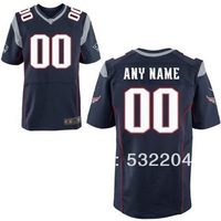 Free Shipping  Wholesale Men's New England Customized Elite  jersey Team Color Jersey American Football Jersey Mixed Order
